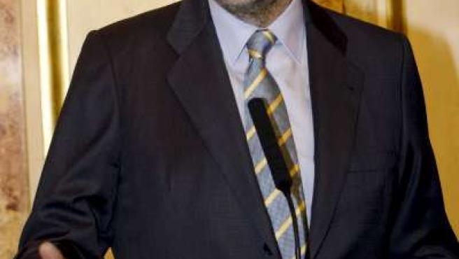 Mariano Rajoy en la declaración que realizó durante la sesión de control al Gobierno.