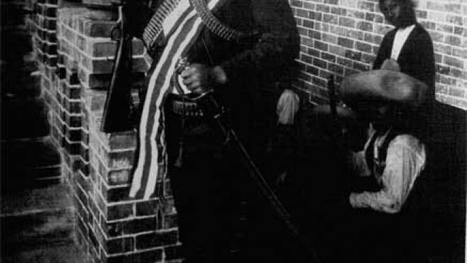 Fotografía de Emiliano Zapata atribuida hasta ahora al fotógrafo alemán Hugo Brehme (1882-1954),