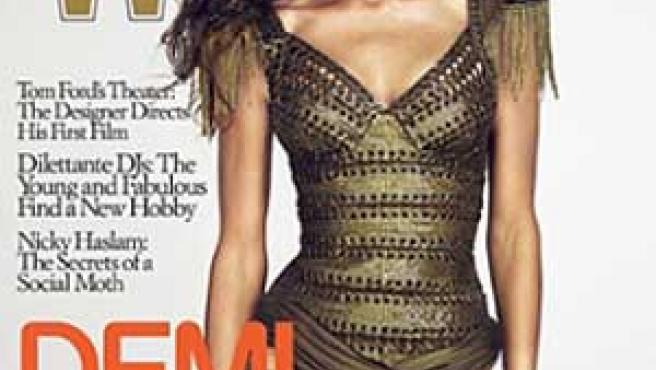 La actriz Demi Moore en la revista 'W'.