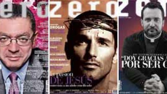 Algunas de las portadas de la revista Zero.