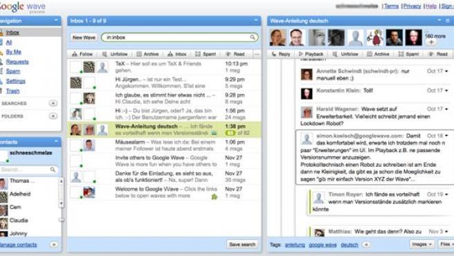 Ejemplo de colaboración en el nuevo servicio de Google