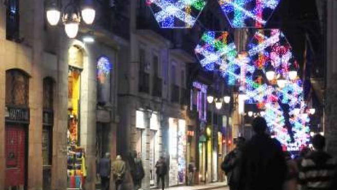 Iluminación navideña en Barcelona.