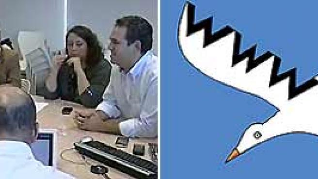 Parte del grupo de expertos en Internet que acudieron a la reunión con la ministra de Cultura y el icono en defensa de Internet.