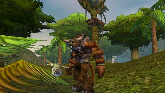 Un tauren, una de las razas de World of Warcraft.