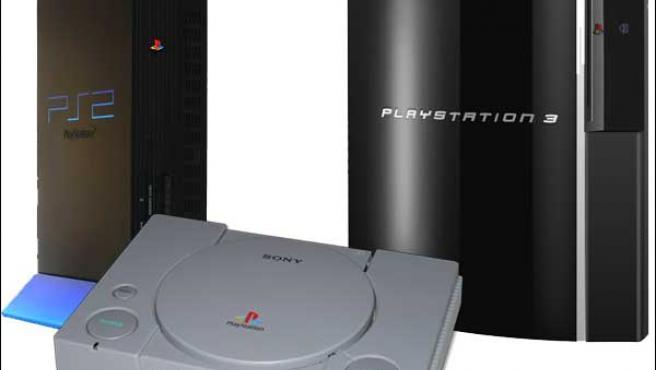 PlayStation 2, PlayStation y PlayStation 3.