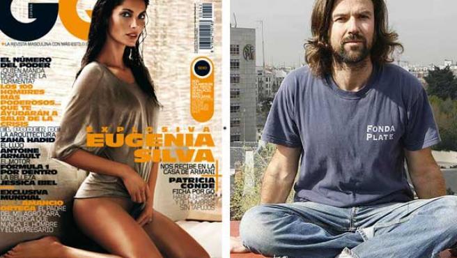 Eugenia Silva (izda), en la portada de 'GQ', y Pau Donés.