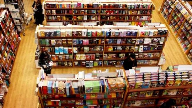 Imagen de una tienda de discos.