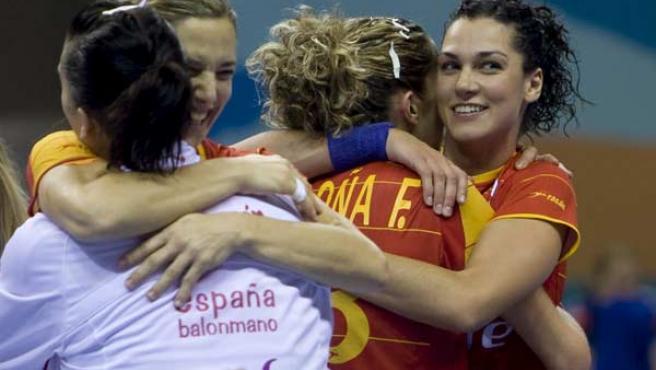 Las jugadoras españolas, durante su participación en el Mundial