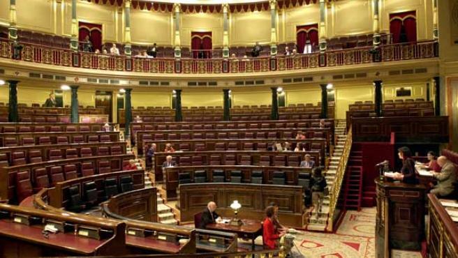 El pleno del Congreso, casi vacío, en una imagen de archivo.