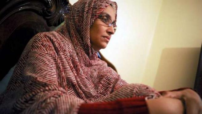La activista saharahui Aminatu Haidar.