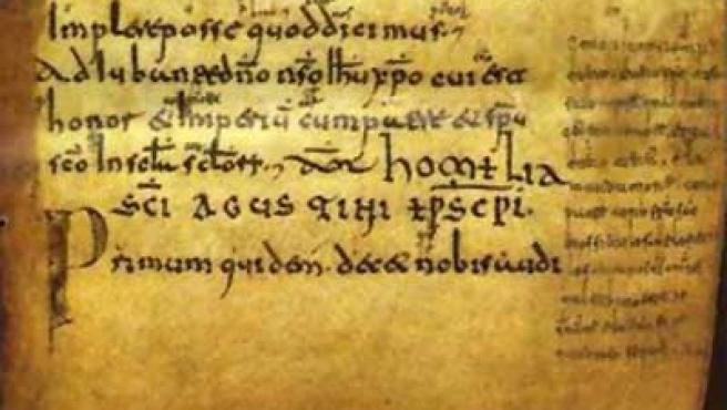 Una de las páginas de los cartularios.