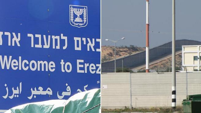 Las dos caras de Erez, el paso fronterizo entre Israel y la Franja de Gaza.
