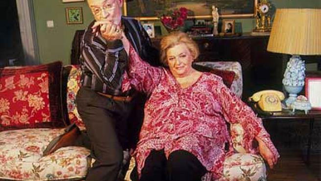 Los actores Marisa Porcel y Pepe Ruiz, que encarnan a Pepa y Avelino en 'Escenas de matrimonio'.