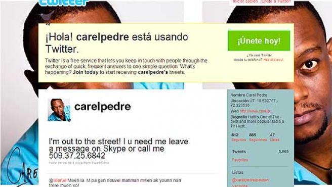 Carel Pedre es un periodista, informando desde Puerto Príncipe vía Twitter.