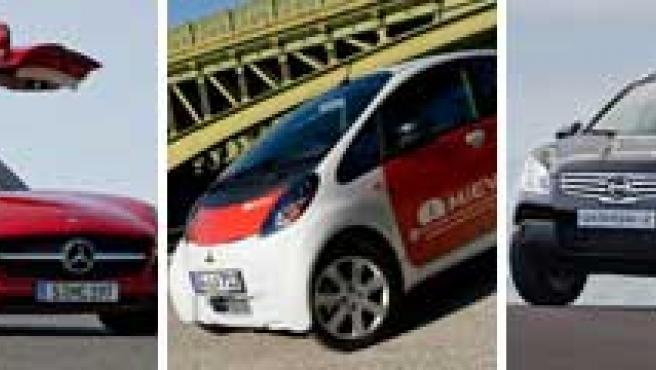 De izquierda a derecha, los nuevos modelos de las marcas Maybach, Mercedes-Benz, Mitsubishi, Nissan y Opel.