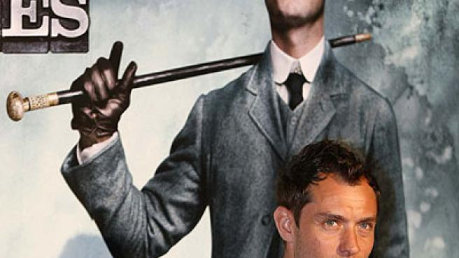 Jude Law presenta en Madrid 'Sherlock Holmes'.