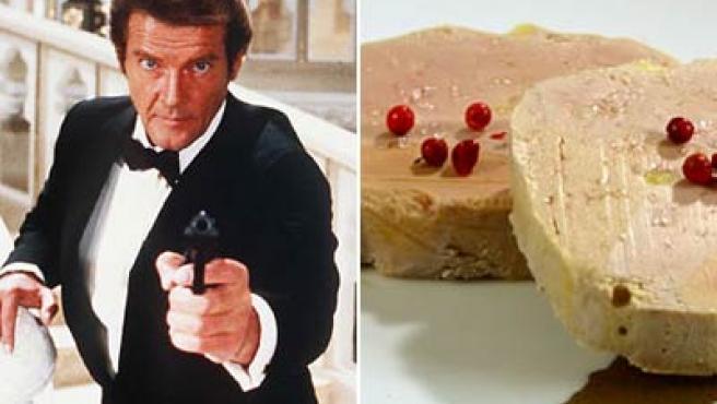 El actor Roger Moore estaba convencido de que el foie gras causa Alzheimer.