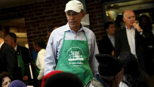 El presidente de EEUU, Barack Obama, participa en una actividad benéfica, en Washington D.C.
