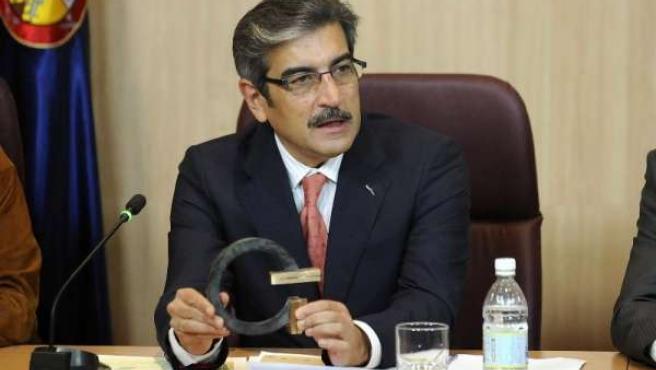 El vicepresidente del Cabildo de Gran Canaria, Román Rodríguez, en la presentaci