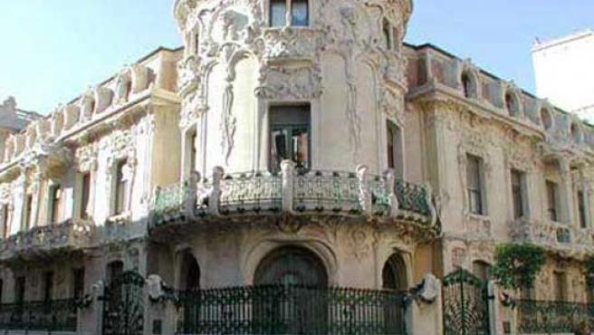 El palacio sede de la SGAE en Madrid.