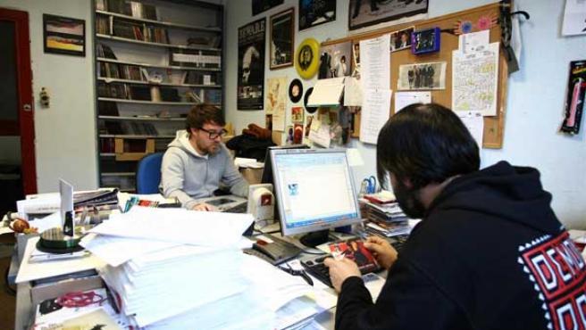 Oficinas de la discográfica independiente Pias en Madrid.