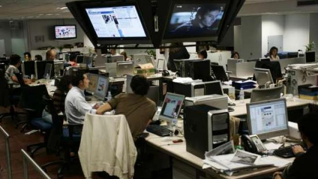 Vista general de la redacción de 20minutos.es en Madrid.