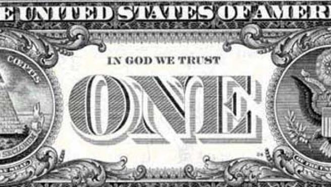 Reverso del billete de dólar.