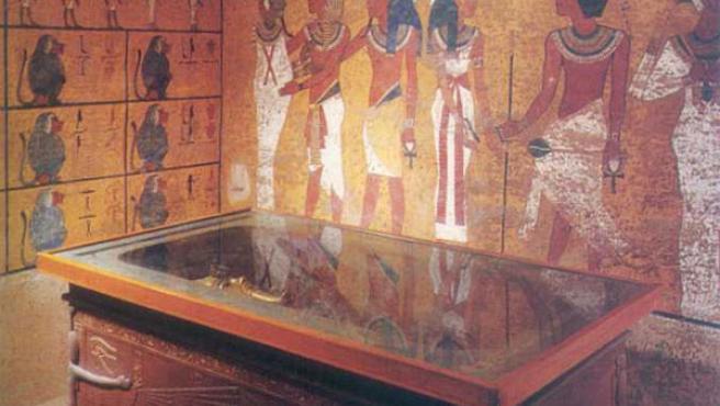 La tumba de Tutankamón en el Valle de los Reyes.