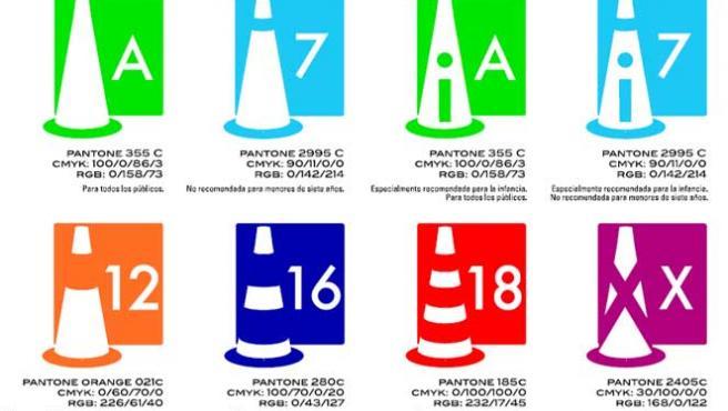 Pictogramas de las calificaciones por edades que entran en vigor.