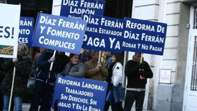 Protestas recientes de los trabajadores de Air Comet.