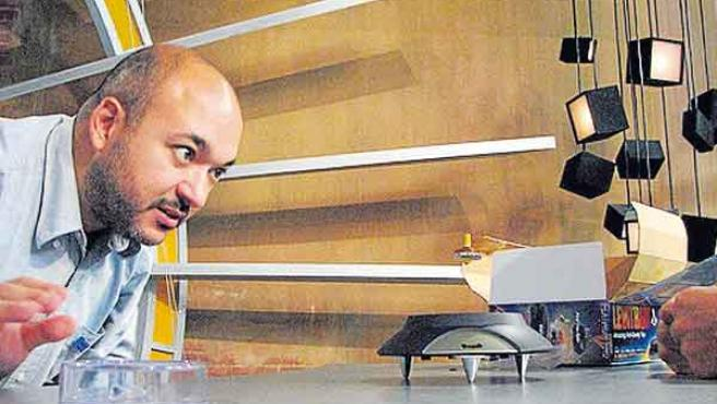 Álvaro Ibáñez, 'Alvy', durante un experimento.