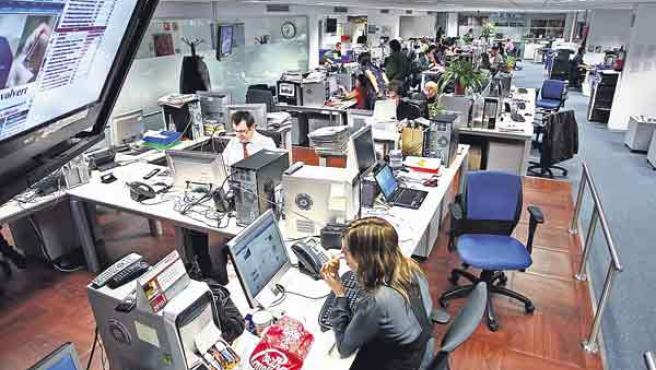 Imagen de la redacción de '20 minutos' en Madrid.