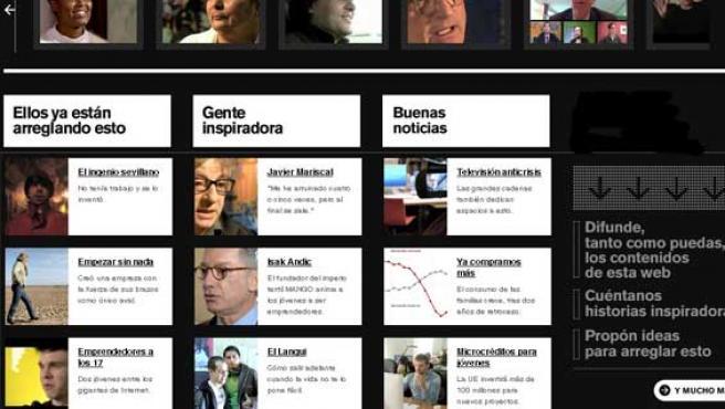 Una imagen de la portada de 'estosololoarreglamosentretodos.org'.