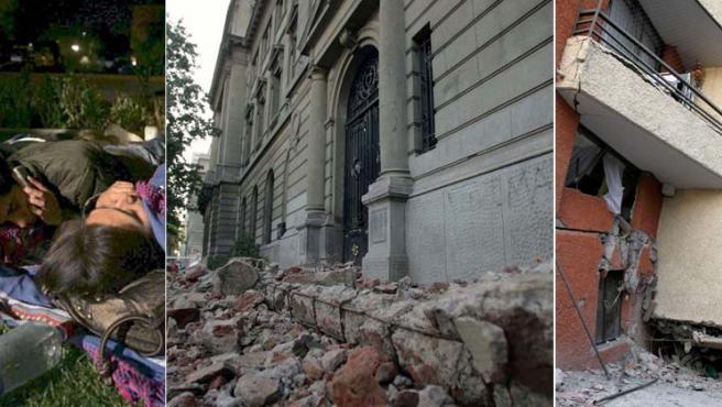 Imágenes de los destrozos provocados por el terremoto.