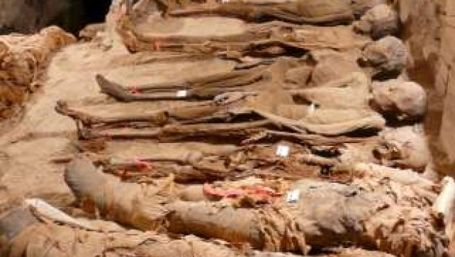 Estudio antropológico y radiológico practicado en 18 momias de la antigua Tebas en Egipto.