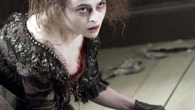 Helena Bonham Carter, en una secuencia del film 'Sweeney Todd: The Demon Barber of Fleet Street'.