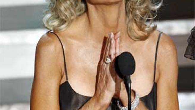 Farrah Fawcett durante los Premios Emmy en 2006.