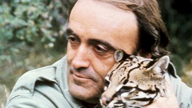 Félix Rodríguez de la Fuente en una de sus imágenes más características.
