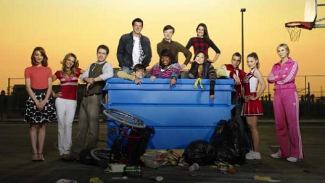 Reparto de la serie musical 'Glee'.