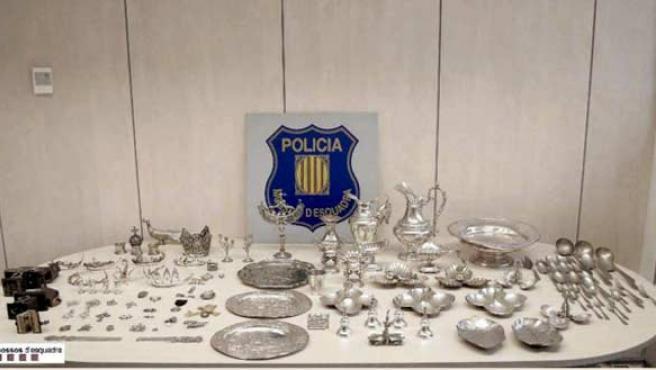La colección de joyas robada.