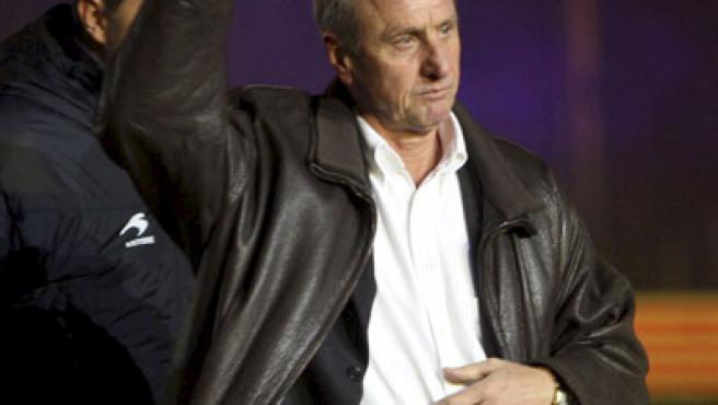 El entrenador de la selección catalana de fútbol, Johan Cruyff.