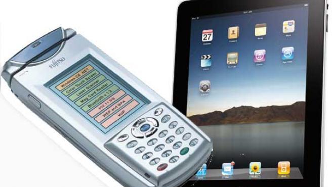 El iPad de Fujitsu frente al iPad de Apple.