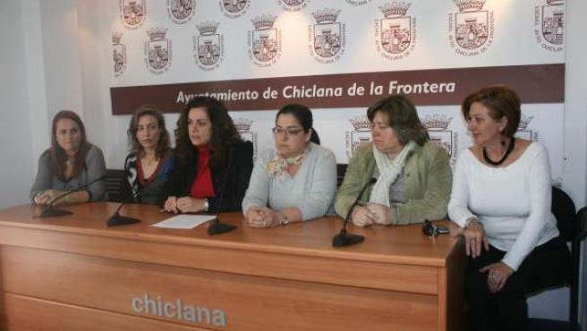 Concejalas Del Equipo De Gobierno En Chiclana, En Rueda De Prensa La Semana Pasa