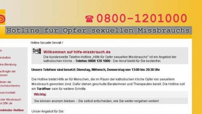 Línea de atención de los obispos alemanes.