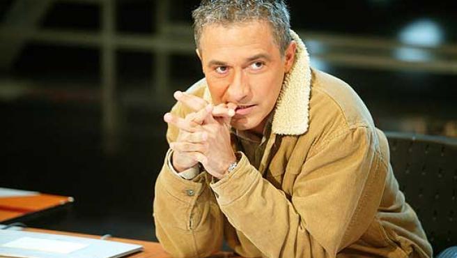 Javier Sardá, en el plató de 'Crónicas Marcianas'.