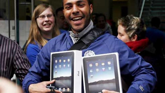 Uno de los primeros compradores del iPad.