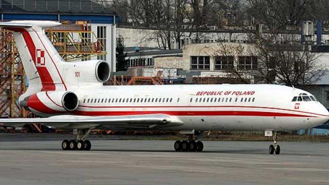 El Túpolev-154 oficial del presidente de Polonia.