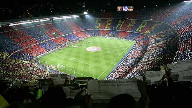 Las gradas del estadio del Barcelona, el Camp Nou.