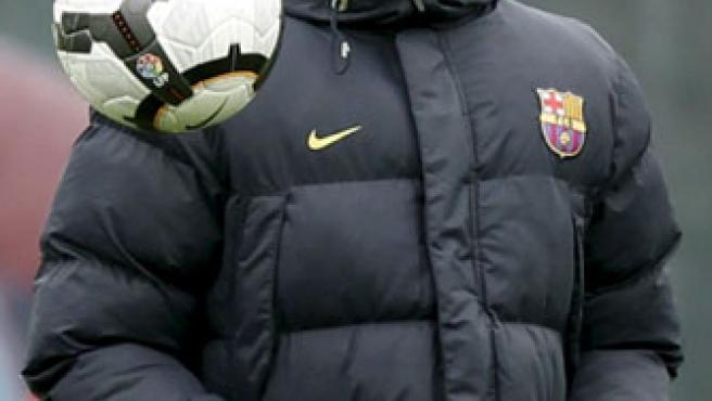 El entrenador del FC. Barcelona Josep Guardiola, durante un entrenamiento.
