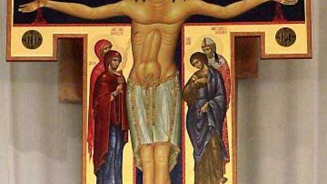 La polémica pintura de Jesucristo en Oklahoma.